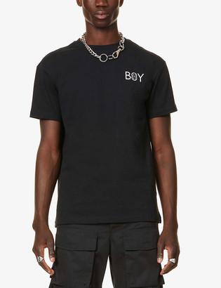 Boy London Emoji cotton-jersey T-shirt