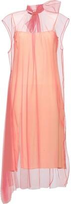 Prada sleeveless technical organza dress