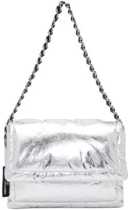 Marc Jacobs Silver The Metallic Pillow Bag