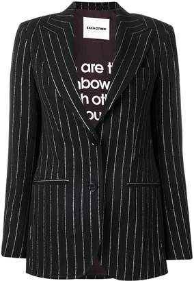 Each X Other lurex pinstriped tailored jacket