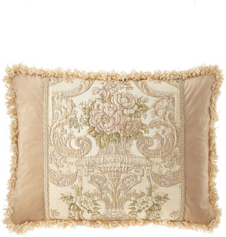 Dian Austin Couture Home Mayorka Pieced Standard Sham with Fringe