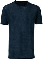 Zanone plain T-shirt - men - Linen/Flax - 50