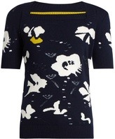 BARRIE Moonflowers intarsia-knit cashmere sweater
