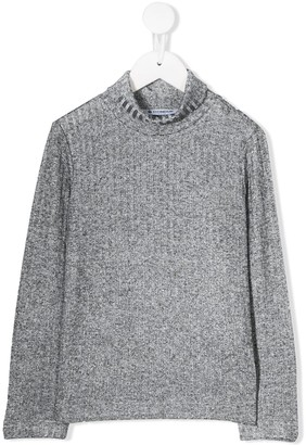 Dondup Kids Glittery Ribbed Top