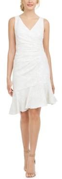Adrianna Papell Matelasse Short Flounce Dress