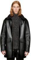 Stella Mccartney Black Faux-leather Coat