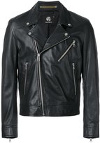 Paul Smith multi-pocket biker jacket - men - Leather/Viscose - M