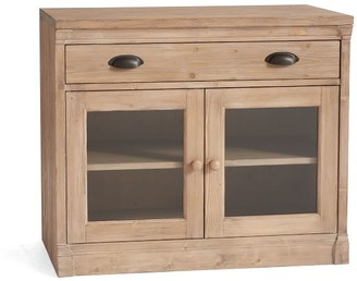 Pottery Barn Lucca Double Glass Door Cabinet