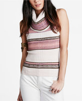 Free People Carly Sleeveless Mixed-Stripe Cowl-Neck Sweater