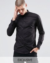 ONLY & SONS Skinny Shirt with Curve Collar with Stretch