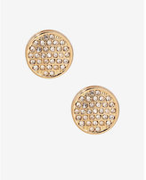 Express Pave Circle Stud Earrings