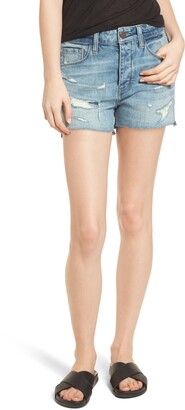 Treasure & Bond High Waist Boyfriend Cutoff Denim Shorts