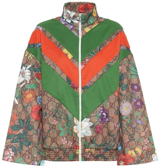 Gucci GG Flora technical-jersey jacket