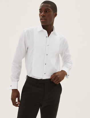 Marks and Spencer Regular Fit Pure Cotton Dinner Shirt