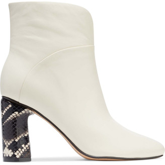 Sigerson Morrison Beatrice Snake-effect And Smooth Leather Ankle Boots