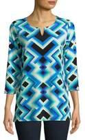 Rafaella Geometric-Print Tunic