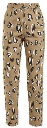 Charles Jeffrey Loverboy Leopard-print Straight-leg Trousers - Womens - Leopard