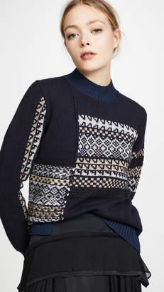 3.1 Phillip Lim Fairisle Patchwork Pullover