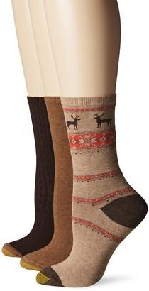 Gold Toe Women's Nordic Deer Winter Fashion Sock