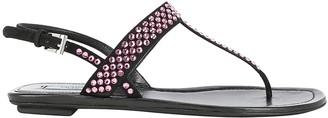 Prada Jewel Embellished T-Bar Sandals