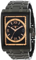 Swiss Legend Men's 40012-BB-11-RN-RA Limousine Textured Dial Ion-Plated Stainless Steel Watch