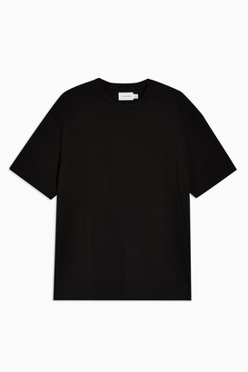 Topman Womens Black Oversized T-Shirt - Black