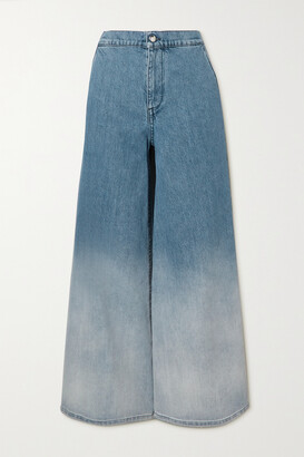 Marni - Ombre High-rise Wide-leg Jeans - Blue