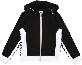 Karl Lagerfeld Paris Boys Black Hooded Track Cardigan
