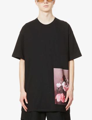 Raf Simons Archive Redux floral-print oversized cotton-jersey T-shirt