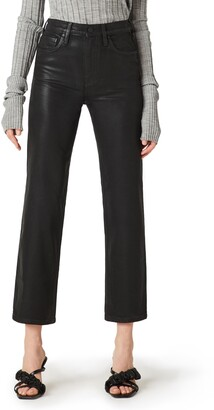 Hudson Remi Coated High Waist Crop Straight Leg Jeans