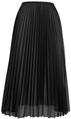 Moncler Pleated Mesh Skirt