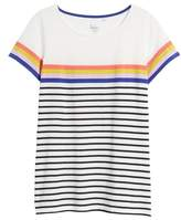 Boden Breton Short Sleeve Stripe Cotton Top