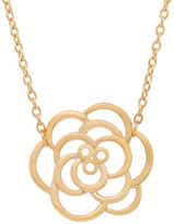 Lord & Taylor 14K Yellow-Gold Flower Pendant Necklace