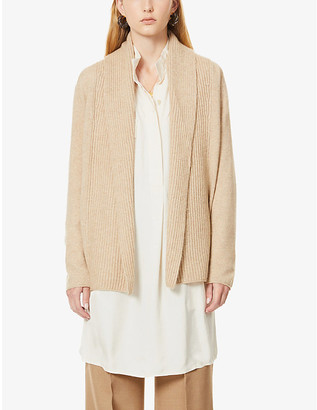 Vince Shawl-collar wool and cashmere-blend cardigan