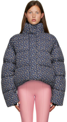 Balenciaga Navy Mini Bear Puffer Jacket