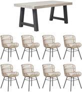 OKA Small Curtiz Dining Table & Orzola Dining Chair