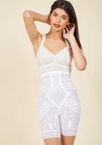 Rago Elegant Underpinnings Contouring Shorts in White in M