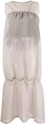 Sunnei Sleeveless Flared Midi Dress