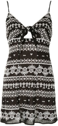 Alice + Olivia Geometric-Print Mini Dress
