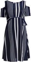 Glam Cold-Shoulder Maternity Dress