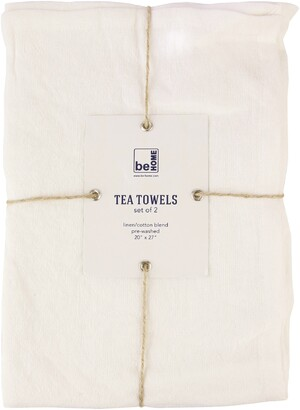 Be Home Set of 2 Linen & Cotton Tea Towels