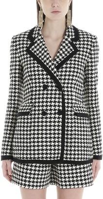 MSGM Houndstooth Pattern Blazer