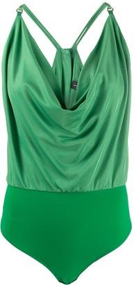 Elisabetta Franchi Ruched Style Sleeveless Bodysuit