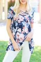 Cezanne Criss-Cross Floral Top
