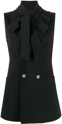 RED Valentino Sleeveless Bow-Tie Blazer