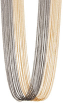 Natasha Accessories Two-Tone Beaded Multi-Strand Necklace