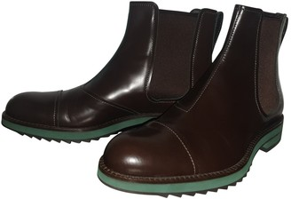 Louis Vuitton Brown Leather Boots