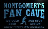 AdvPro Name tc1211-b Montgomery's Baseball Fan Cave Man Room Bar Beer Neon Light Sign