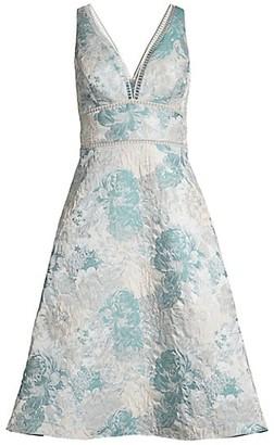 Aidan Mattox Sleeveless A-Line Dress