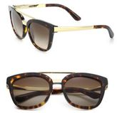 Dolce & Gabbana 54MM Square Acetate & Metal Sunglasses